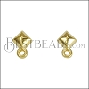 Diamond Post Earring with Loop SHINY GOLD - per 10 pieces