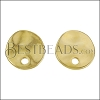 Hammered Circle Post Earring with Hole SHINY GOLD - per 10 pieces