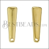 Drop Bar Post Earring with Hole SHINY GOLD - per 10 pieces