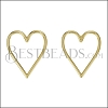 Heart Wire Post Earring SHINY GOLD - per 10 pieces
