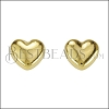 Puffed Heart Post Earring SHINY GOLD - per 10 pieces