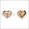 Puffed Heart Post Earring ROSE GOLD - per 10 pieces