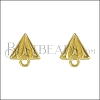 Paper Airplane Post Earring SHINY GOLD - per 10 pieces