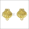 Clamshell Post Earring with Loop SHINY GOLD - per 10 pieces