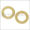 27mm Etched Oval Post Earring with Hole SHINY GOLD - per 10 pieces