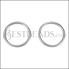 Wire Loop Post Earring ANT SILVER - per 10 pieces