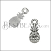 MINI Pineapple Charm ANT SILVER - per 10 pieces