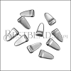 MINI Wide Spike Drop ANT SILVER - per 10 pieces