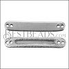 MINI Bar with Inset ID Bar ANT SILVER - per 10 pieces
