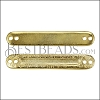MINI Bar with Inset ID Bar SHINY GOLD - per 10 pieces