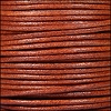 2mm round Euro leather WHISKEY - per 25m SPOOL