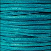 2mm round Euro leather DISTRESSED TURQUOISE - per 25m SPOOL