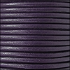 2mm round Euro leather PURPLE - per 25m SPOOL
