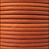 2mm round Euro leather BURNT ORANGE - per 25m SPOOL