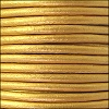 2mm round Euro leather METALLIC GOLD - per 25m SPOOL