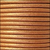 2mm round Euro leather METALLIC BRONZE - per 25m SPOOL
