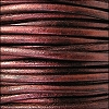 2mm round Euro leather METALLIC BORDEAUX - per 25m SPOOL