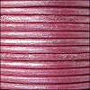 2mm round Euro leather METALLIC FUCHSIA - per 25m SPOOL