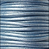 2mm round Euro leather METALLIC SKY BLUE - per 25m SPOOL