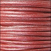2mm round Euro leather METALLIC CORAL - per 25m SPOOL