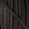 4mm Flat SUEDE lace DARK GREY - per 20m SPOOL
