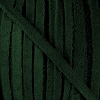 4mm Flat SUEDE lace FOREST GREEN - per 20m SPOOL
