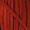 4mm Flat SUEDE lace BRIGHT RED - per 20m SPOOL