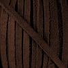 4mm Flat SUEDE lace DARK BROWN - per 20m SPOOL