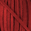 4mm Flat SUEDE lace RED - per 20m SPOOL