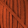 4mm Flat SUEDE lace BURNT ORANGE - per 20m SPOOL