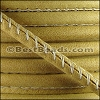 5mm round ARIZONA stitched leather OLD GOLD - per 10 feet