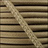 5mm round ARIZONA stitched leather TAUPE - per 10m SPOOL