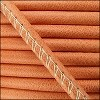 5mm round ARIZONA stitched leather BURNT ORANGE - per 10m SPOOL