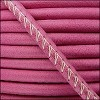 5mm round ARIZONA stitched leather FUCHSIA - per 10m SPOOL