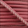 5mm round ARIZONA stitched leather RED - per 10m SPOOL