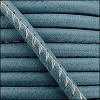 5mm round ARIZONA stitched leather FADED DENIM - per 10m SPOOL