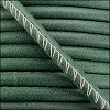 5mm round ARIZONA stitched leather FOREST GREEN - per 10m SPOOL