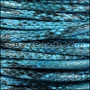 5mm Round Python leather per meter - Turquoise