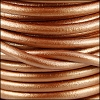 5mm round Euro leather METALLIC BRONZE - per 10 feet