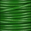 4mm round Euro leather GRASS GREEN - meter