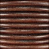 5mm round Euro leather DISTRESSED BROWN - per 10 feet