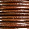 5mm round Euro leather TOBACCO - per 10 feet