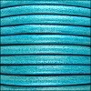 5mm round Euro leather DISTRESSED TURQUOISE - per 10 feet