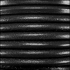5mm round Euro leather BLACK - per 10 feet