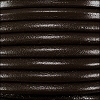 2mm round Euro leather DARK BROWN - per 25m SPOOL