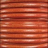 5mm round Euro leather DISTRESSED ORANGE - per 10 feet