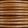 5mm round Euro leather CAMEL - per 10 feet