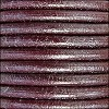 5mm round Euro leather METALLIC SILVER BORDEAUX - per 10 feet