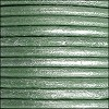 5mm round Euro leather METALLIC TEAL - per 10 feet