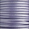 5mm round Euro leather METALLIC LILAC - per 10 feet